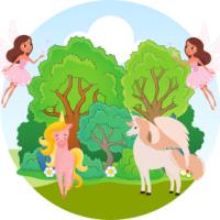 Anniversaire Salle - Thème fées et licornes