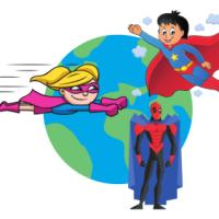 Anniversaire Salle - Thème super-héros