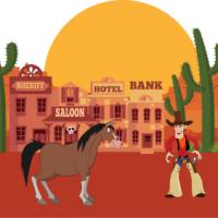 Anniversaire Salle - Thème Far West et Cow Boy